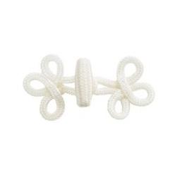 фото Набор застежек плетеных с крючком Tilda. Цвет: белый