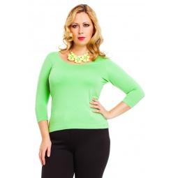 фото Кофта Mondigo XL 023. Цвет: салатовый. Размер одежды: 52