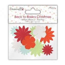 фото Набор цветочков бумажных Trimcraft Рождество в стиле модерн