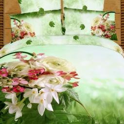 фото Комплект постельного белья Buenas Noches Vesenniy Buket. Satin Fotoprint. 2-спальный