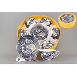 Купить Чайный набор с ложками Elan Gallery «Павлин синий» 730491