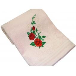 фото Полотенце подарочное с вышивкой TAC Roses. Цвет: розовый