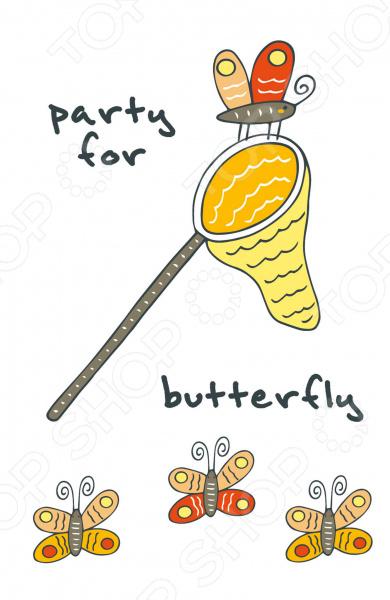 Party for butterfly. Блокнот для записейБлокноты<br>Блокноты серии Like - это необычный и яркий дизайн, удобный формат и пустые листы внутри, чтобы вы могли записывать важную информацию и зарисовывать не менее важные дела! Отличайся от остальных!<br>