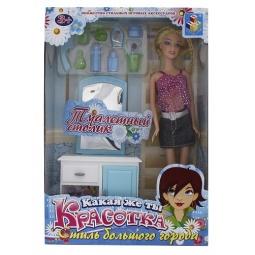 Купить Набор мебели с куклой 1 TOY «Туалетный столик»