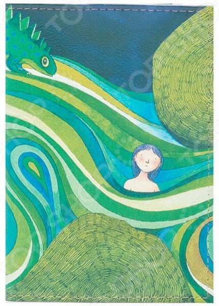 Обложка для паспорта кожаная Mitya Veselkov «Девочка в зеленых волнах»Обложки для паспортов<br>Mitya Veselkov Девочка в зеленых волнах это современная и ультрамодная обложка для вашего паспорта. Украшенная дизайнерским принтом с внешней стороны модель, предназначена для людей, которые хотят сделать жизнь ярче, красочней, а к традиционным вещам подходят творчески. Изделие подходит как для внутреннего, так и заграничного удостоверения личности. Изготовленная из натуральной кожи обложка, надежно защитит важный документ от внешнего воздействия, поэтому он всегда будет как новый. Придайте паспорту оригинальности и подчеркните свою уникальность!<br>