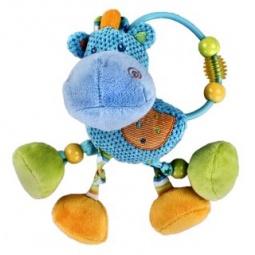 фото Игрушка подвесная Жирафики с погремушкой «Бегемотик»