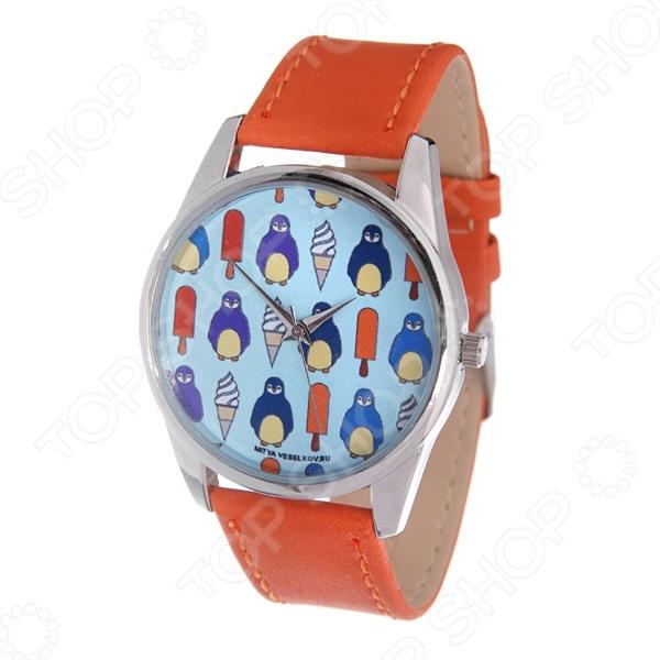 Часы наручные Mitya Veselkov «Пингвины и эскимо» Color визитница пингвины и эскимо vizit 166