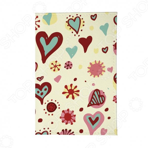 Обложка для паспорта Mitya Veselkov «Цветные сердечки»