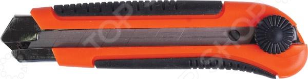 Нож строительный Archimedes NormaСтроительные ножи<br>Нож строительный Archimedes Norma с выдвижным механизмом удобный и легкий в использовании инструмент, который необходим во время отделочных, слесарных работ, а также для обычных бытовых нужд. Высокопрочное металлическое полотно обеспечит легкий и качественный рез заготовок из картона, резины, пластика и пр. Надежный выдвижной механизм облегчит хранение и транспортировку изделия. Корпус ножа представлен двухкомпонентной структурой пластик с прорезиненными вставками. Выдвижной механизм представлен регулировочным колесиком.<br>