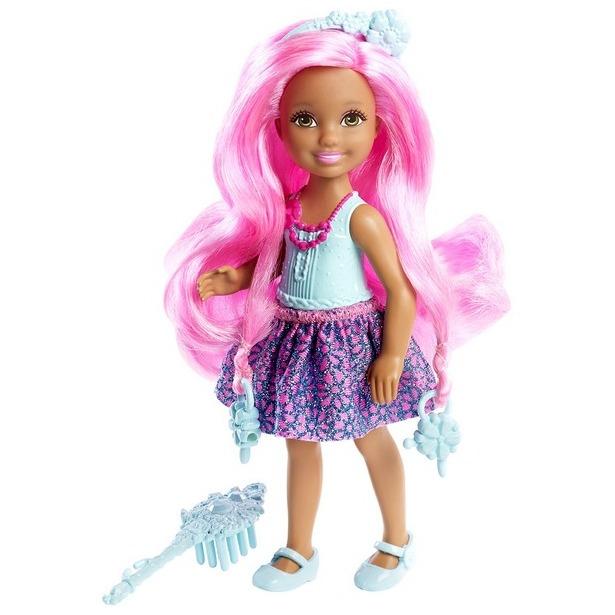 фото Кукла Mattel «Челси с длинными розовыми волосами»