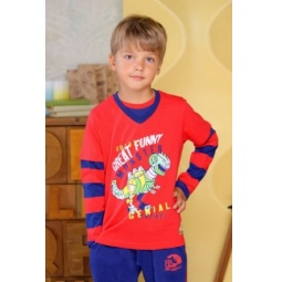 фото Футболка для мальчиков Detiland AW15-UKN-BTL-018. Цвет: красный. Рост: 110 см