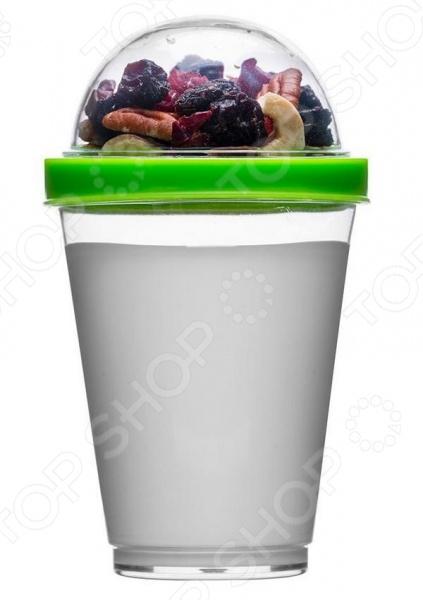 Кружка Sagaform для йогурта - оригинальный стакан для йогурта с округлой верхней крышкой. В такой стакан будет удобно засыпать мюсли. Выполнена модель кружки из качественных материалов, которые легко очищаются под проточной водой. Компактные размеры кружки позволят захватить ее с собой в поездку, а яркий окрас крышки будет дарить хорошее настроение и придаст особый очаровательный вид содержимому кружки.