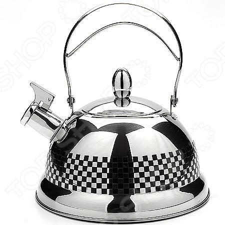 Чайник со свистком Mayer&amp;amp;Boch MB-4018Чайники со свистком и без свистка<br>Чайник со свистком Mayer Boch MB-4018 - выполнен из долговечной и прочной стали, которая не окисляется и устойчива к коррозии. Объем чайника составляет 3,1 литра, оснащен свистком, благодаря которому вы можете не беспокоиться о том, что закипевшая вода зальет плиту. Как только вода закипит - свисток оповестит вас об этом. Капсулированное дно с прослойкой из алюминия обеспечивает наилучшее распределение тепла. Удобный и практичный чайник отлично впишется в интерьер любой кухни. Можно мыть в посудомоечной машине.<br>