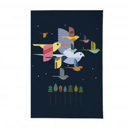 фото Обложка для паспорта Mitya Veselkov «Птицы». Цвет: синий