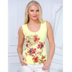 фото Майка женская BeGood SS15-UER-LTP-883. Цвет: ванильный. Размер одежды: 44