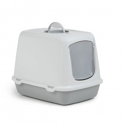 фото Домик-туалет для кошек Beeztees Oscar. Цвет: серый