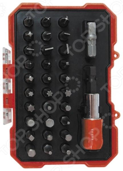 Набор инструмента Zipower PM 5135Наборы инструментов<br>Набор инструмента Zipower PM 5135 состоит из 32 предметов, предназначен для крепежных работ с мелкими и стандартными крепежными элементами. В наборе представлены биты самых популярных размеров и типов, что позволяет с легкостью найти нужную биту для определенного крепежа. Благодаря использованию особой технологии закаливания стали, инструменты отличаются невероятной прочностью и долговечностью. И, даже при длительном использовании, они сохраняют все необходимые свойства для выполнения своих функций. Все элементы набора сложены в прочный пластиковый кейс, что позволяет максимально удобно переносить и использовать их. В комплекте:  битодержатель с системой фиксации бит Autolock 1 4 ;  бита отверточная 1 4 х25 мм SL3; 4; 5; 6; 7 мм; PH0; PH1 3 шт; PH2 2 шт.; PH3; PZ0; PZ1; PZ2; PZ3; T10; T15; T20; T25; T30; T40; H3; H4; H5; H6; S0; S1; S2; S3;  адаптер 1 4 х1 4  25 мм.<br>