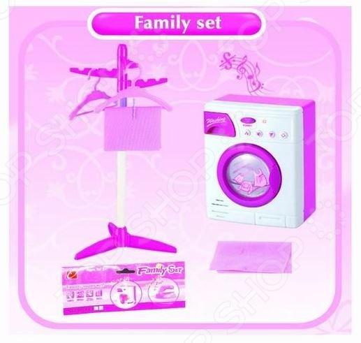 Стиральная машина игрушечная Family set 1707228 ролевые игры dolu игрушечная стиральная машинка
