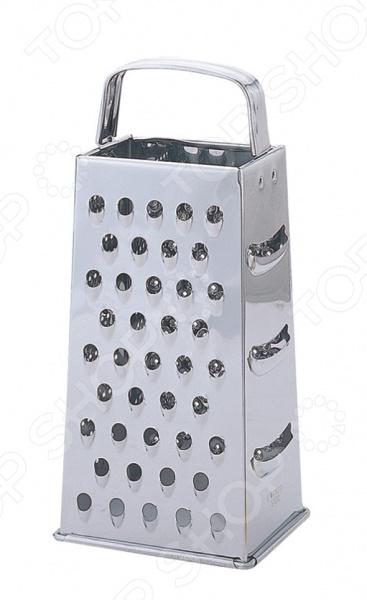 Терка четырехгранная Regent 93-AC-GR-74Терки. Шинковки<br>Терка четырехгранная Regent 93-AC-GR-74 станет отличным дополнением к набору аксессуаров и принадлежностей для кухни. Модель удобна и функциональна в использовании, благодаря черырехгранной конструкции и, различным по форме зубьям, может применяться как для крупного, так и для мелкого натирания продуктов. Лезвия терки выполнены из высококачественной нержавеющей стали.<br>