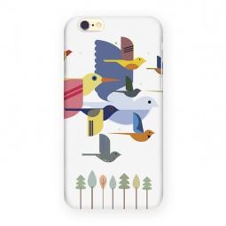 фото Чехол для iPhone 6 Mitya Veselkov «Птицы». Цвет: белый