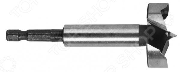 Сверло Форстнера по дереву Зубр «Эксперт» 29993Сверла<br>Сверло Форстнера по дереву Зубр Эксперт 29993 применяется для сверления сквозных и глухих отверстий в древесине, древесностружечных материалах ДСП и фанера и пластике. Изделие выполнено из высокопрочной инструментальной стали, практично и долговечно в использовании. Хвостовик сверла имеет проточку, что позволяет использовать его с быстросъемными адаптерами.<br>