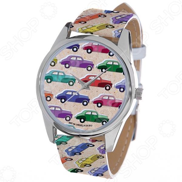 Часы наручные Mitya Veselkov «Цветные машинки» ART цена и фото