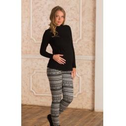 Купить Леггинсы для беременных Nuova Vita 5202.09. Цвет: чёрный