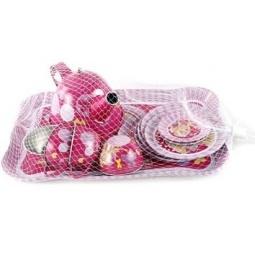 фото Игровой набор для девочки Shantou Gepai «Чайный сервиз. Куколка с подносом»