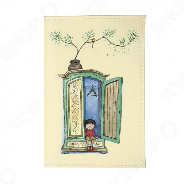 Обложка для паспорта Mitya Veselkov «Девочка и шкаф»