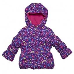 Купить Куртка утепленная с капюшоном Amy Byer Цветочек-purple
