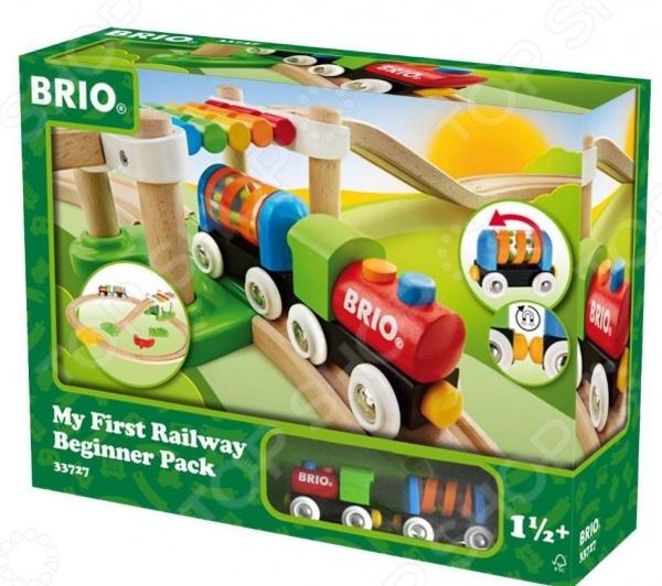 Набор железной дороги игрушечный Brio «Моя первая железная дорога. Новичок» железные дороги brio железная дорога с автодорогой и переездом
