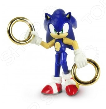 Игрушка-фигурка Sonic Соник с двумя кольцами
