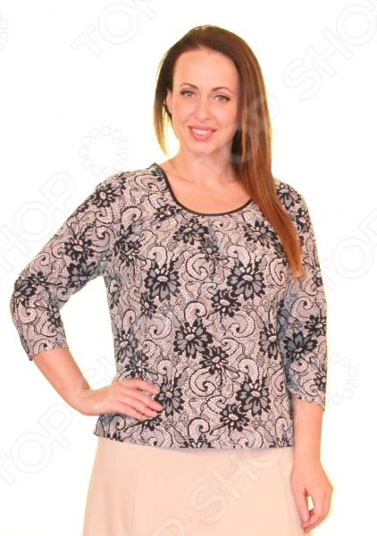 Блуза СВМ-ПРИНТ «Арабески»Блузы. Рубашки<br>Блуза СВМ-ПРИНТ Арабески это легкая и нежная блуза, которая поможет вам создавать невероятные образы, всегда оставаясь женственной и утонченной. Благодаря отличному дизайну она скроет недостатки фигуры и подчеркнет достоинства. Блуза прекрасно смотрится с брюками и юбками, а насыщенный цвет привлекает взгляд. В этой блузе вы будете чувствовать себя блистательно как на работе, так и на вечерней прогулке по городу. Универсальная длина до середины бедра делает блузу одеждой на все случаи жизни, а удобные рукава скрывают недостатки в области плеч. Круглый вырез горловины визуально удлиняет шею, а длинные рукава подчеркнут ваше изящество. Оригинальный принт блузы это не только элемент стиля. Он имеет важную функцию: яркая расцветка, отвлекает внимание от недостатков и облегчает силуэт. Это классический и эффективный прием, помогающий добиться гармоничных пропорций тела. Блуза изготовлена из мягкой ткани 100 вискоза , благодаря чему материал не скатывается и не линяет после стирки. Прекрасно подходит энергичной современной женщине, которая хочет выглядеть элегантно в любой ситуации.<br>