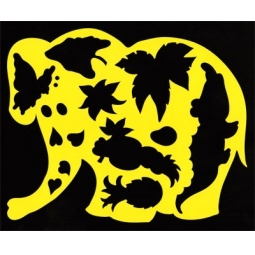 фото Трафарет фигурный Луч «Слоник в джунглях»