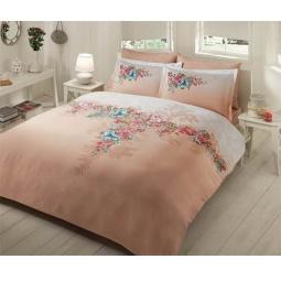фото Комплект постельного белья TAC Lona. 1,5-спальный. Цвет: бежевый