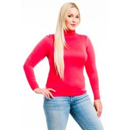 фото Водолазка Mondigo XL 046. Цвет: ярко-розовый. Размер одежды: 48