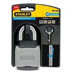 фото Замок навесной из хромированной латуни Stanley S 742-008 Professional Security 24/7