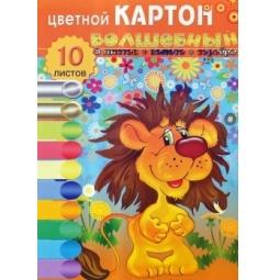 фото Набор картона цветного Бриз «Львенок»