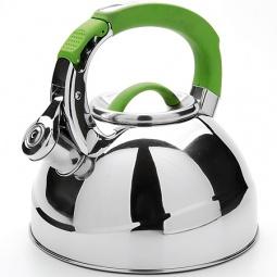 фото Чайник со свистком Mayer&Boch Flat Bottom. Цвет: зеленый