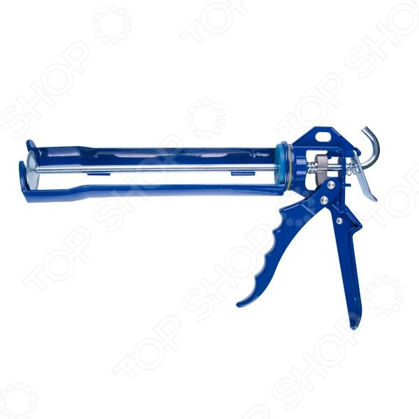 Пистолет-рамка Brigadier для клея и герметикаПистолеты. Степлеры строительные<br>Пистолет-рамка Brigadier для клея и герметика ручной инструмент для выдавливания герметика, благодаря которому можно будет с высокой точностью заклеить нужный участок. Имеет прочную конструкцию, удобный рычажный механизм, который обеспечивает свободный обратный ход поршня, он уменьшает нагрузку на руку. Такой пистолет облегчает проведение объемной работы. Эргономичная рукоятка обеспечит комфортную работу с пистолетом.<br>