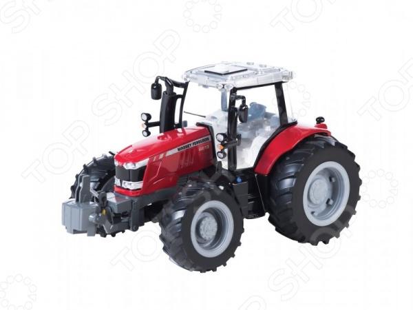 Машинка со светозвуковыми эффектами Tomy «Трактор» MASSEY FERGUSON 6613Машинки<br>Машинка со светозвуковыми эффектами Tomy Трактор MASSEY FERGUSON 6613 представляет собой уменьшенную модель настоящего сельскохозяйственного трактора. Модель выполнена из высококачественных материалов, которые обеспечивают её надежность и долговечность. Трактор отличается удивительной детализацией, которая делает его очень похожим на свой реальный прототип. Особенности машинки со светозвуковыми эффектами Tomy Трактор MASSEY FERGUSON 6613:  реалистичные звуковые и световые эффекты фары светятся ;  мощные прорезиненные колеса, которые обеспечивают сохранность напольного покрытия;  корпус выполнен из высококачественного пластика, который позволяет играть с трактором даже на улице. Машинка со светозвуковыми эффектами Tomy Трактор MASSEY FERGUSON 6613 станет настоящим подарком для коллекционеров и простых автолюбителей.<br>