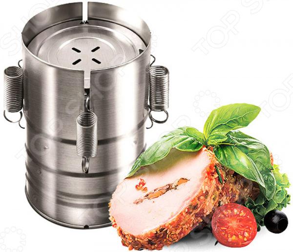 Ветчинница Redmond RHP-M02Принадлежности для заготовок<br>Ветчинница Redmond RHP-M02 уникальный прибор, который позволит вам самостоятельно готовить домашние рулеты, колбасы, буженину и другие мясные деликатесы. Отныне на вашем столе появятся гастрономические изыски из натуральных продуктов, которые вы выбрали сами! Принцип приготовления в ветчиннице основан на температурной обработке продуктов при одновременном их сжатии внутри пресс-формы. Ветчинница Redmond RHP-M02 надежна и долговечна. Она легко моется и не впитывает запахи. Вы можете готовить домашние деликатесы в ветчиннице Redmond, используя мультиварки с объемом чаши от 5 литров, мультиварки-скороварки, скороварки, аэрогрили, духовой шкаф и даже обычные кастрюли. Творите, экспериментируйте и открывайте новые грани кулинарных возможностей вместе с техникой Redmond! Книга рецептов в комплекте.<br>