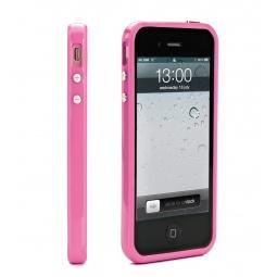 фото Чехол и пленка на экран Muvit Bumper Case для iPhone 5. Цвет: розовый