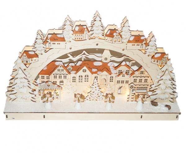 Декорация рождественская Star Trading «Рождественский городок»
