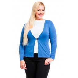 фото Жакет Mondigo XL 426. Цвет: джинсовый. Размер одежды: 52