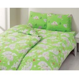 фото Комплект постельного белья TAC Memoirs. 1,5-спальный. Цвет: зеленый