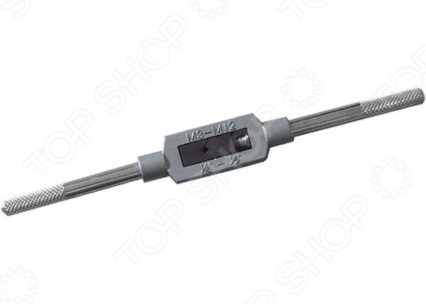 Вороток для метчиков СИБРТЕХ 76912Резьбонарезной инструмент<br>Вороток для метчиков СИБРТЕХ 76912 прочное и качественное приспособление, которое предназначено для удержания метчиков при нарезании резьбы. Вороток предназначен для работы с метчиками размером М3 - М12. Инструмент выполнен из высококачественного металла, который отличается устойчивостью к воздействию коррозии, ржавчины, механическим и бытовым повреждениям.<br>