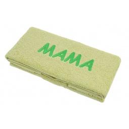 фото Полотенце подарочное с вышивкой TAC Мама. Цвет: зеленый