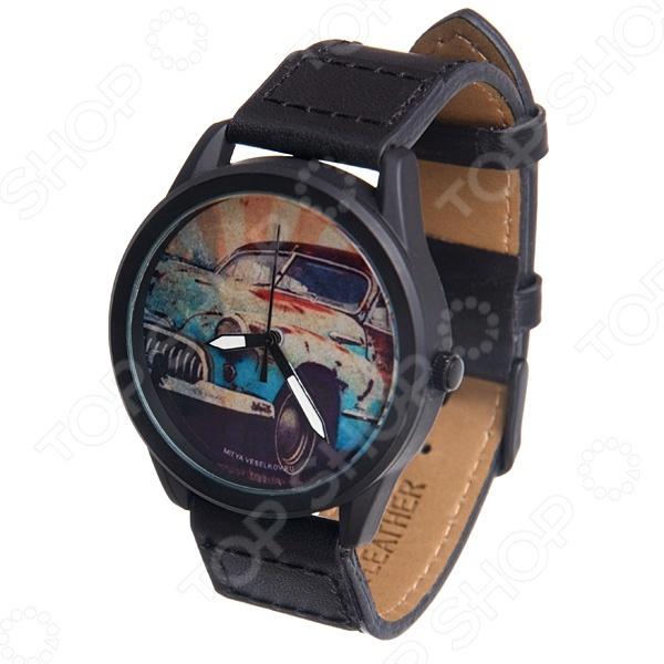 Часы наручные Mitya Veselkov «Ретро-автомобиль» MVBlack