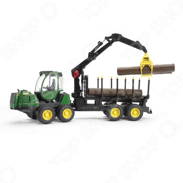 Машинка игрушечная Bruder «Трактор с прицепом» John Deere 1210E машины bruder трактор john deere 7930 с погрузчиком и прицепом